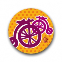 Round bike sticker - minibicycle