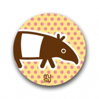 Round bike sticker - tapir