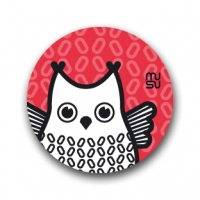 Round bike sticker - owl