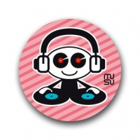 Round bike sticker - DJ boy