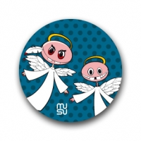 Round bike sticker - angels