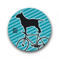 Round bike sticker - bullterrier