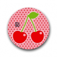 Round bike sticker - cherry