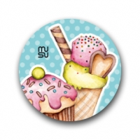Round bike sticker - sweets