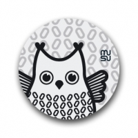 Reflective round bike sticker - owl