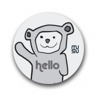 Reflective round bike sticker - Hellobear