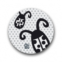 Reflective round bike sticker - ladybug