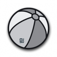 Reflective round bike sticker - ball