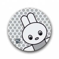 Reflective round bike sticker - rabbit