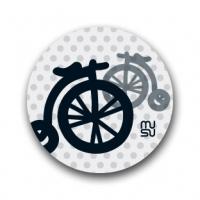 Reflective round bike sticker - mini bicycle