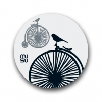 Reflective round bike sticker - bicycle