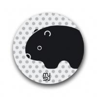 Reflective round bike sticker - wombat