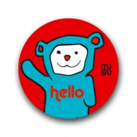 Round bike sticker - Hellobear