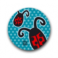 Round bike sticker - ladybird
