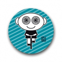 Round bike sticker - spoke-eyed boy