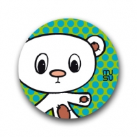 Round bike sticker - bear
