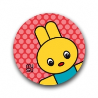 Round bike sticker - Rabbit