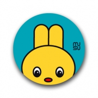 Round bike sticker - Rabbit head