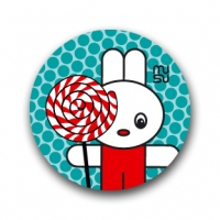 Round bike sticker - lollipop