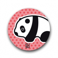 Round bike sticker - panda