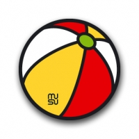 Round bike sticker - beach ball