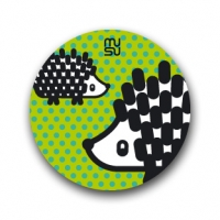 Round bike sticker - hedgehog