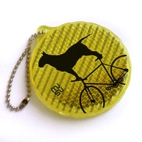 Reflector with chain - bullterrier