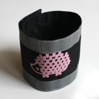 Strap pants - hedgehog, pink-white