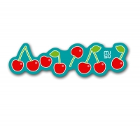 Frame sticker - 15cm - cherry